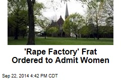 'Rape Factory' Frat Ordered to Admit Women