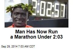 Man Has Now Run a Marathon Under 2:03