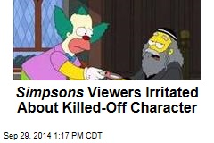 Simpsons Viewers Irritated About Killed-Off Character
