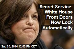 Secret Service: White House Front Doors Now Lock Automatically