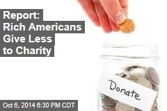 Charity Report: Wealthy Giving Less, Middle Class More