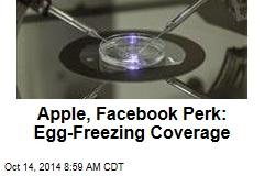 Apple, Facebook Perk: Egg-Freezing Coverage