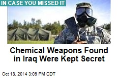 Gov't Covered Up Chemical Weapons Found in Iraq: NYT