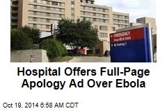 Hospital Offers Full-Page Ad Apology Over Ebola