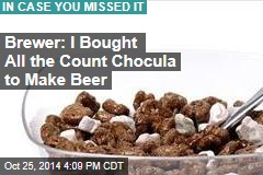 Brewer: I Bought All the Count Chocula to Make Beer