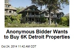 Anonymous Bidder Wants to Buy 6K Detroit Properties