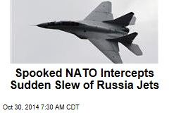 Spooked NATO Intercepts Sudden Slew of Russia Jets