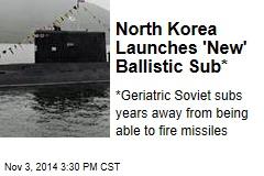 North Korea Launches 'New' Ballistic Sub*