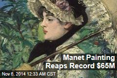 Manet Painting Brings in Record $65 Million