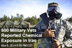 600 Military Vets Reported Chemical Exposure in Iraq