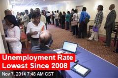 Unemployment Rate Lowest Since 2008