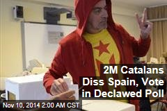 2M Catalans Diss Spain, Vote in Declawed Poll
