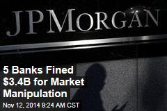 5 Banks Fined $3.4B for Market Manipulation