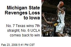 Michigan State Revenges Loss to Iowa
