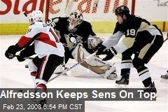 Alfredsson Keeps Sens On Top