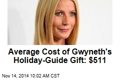 Average Cost of Gwyneth's Holiday-Guide Gift: $511