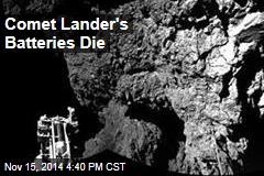 Comet Lander's Batteries Die