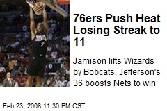 76ers Push Heat Losing Streak to 11