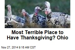 Here Are the Worst States to Hold Thanksgiving