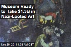 Museum Ready to Take $1.3B in Nazi-Looted Art