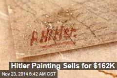 Hitler Painting Sells for $162K