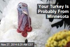 Your Turkey Is Probably From Minnesota