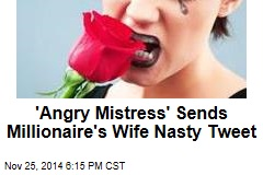 'Angry Mistress' Sends Millionaire's Wife Nasty Tweet