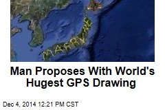 Man Proposes With World's Hugest GPS Drawing