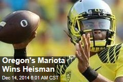 Oregon's Mariota Wins Heisman