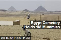 Egypt Cemetery Holds 1M Mummies
