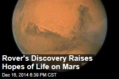 Rover's Discovery Raises Hopes of Life on Mars