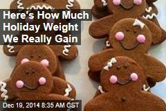 Here's How Much Holiday Weight We Really Gain
