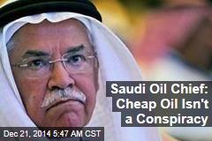 Saudi Oil Chief: Cheap Gas Isn't a Conspiracy