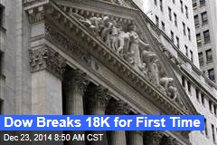 Dow Breaks 18K for First Time