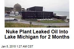 Nuke Plant Leaked Oil Into Lake Michigan for 2 Months
