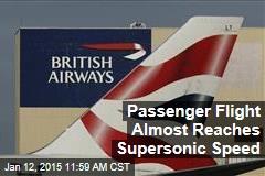 Passenger Flight Nearly Breaks Sound Barrier