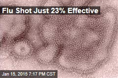 Flu Shot Just 23% Effective