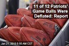 11 of 12 Patriots' Game Balls Were Deflated: Report