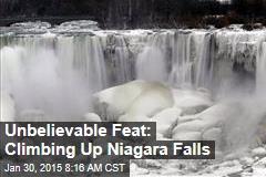Unbelievable Feat: Climbing Up Niagara Falls