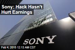 Sony: Hack Hasn't Hurt Earnings