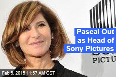 Pascal Out as Head of Sony Pictures