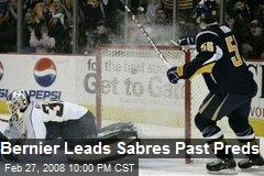 Bernier Leads Sabres Past Preds