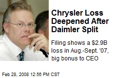 Chrysler Loss Deepened After Daimler Split