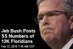 Jeb Bush Posts SS Numbers of 12K Floridians