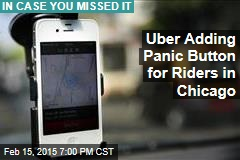 Uber Adding Panic Button for Riders in Chicago