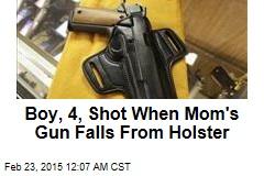 Boy, 4, Shot When Mom's Gun Falls From Holster