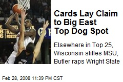 Cards Lay Claim to Big East Top Dog Spot