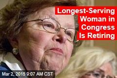 Longest-Serving Woman in Congress Is Retiring