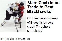 Stars Cash in on Trade to Beat Blackhawks