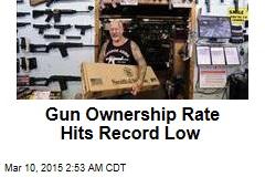 Gun Ownership Rate Hits Record Low